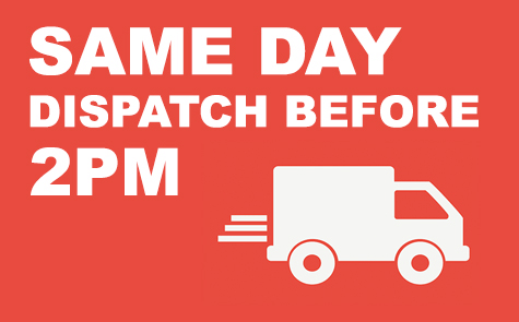 Same day dispatch for approved orders before 2pm